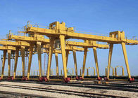 Di luar Ganda Industri Double Bey Gantry Crane Rail dipasang dengan Hook High Strength