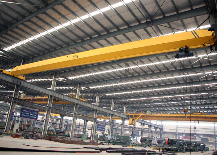 Single Girder Overhead Crane With Electric Hoist , Workshop Electric Bridge Crane