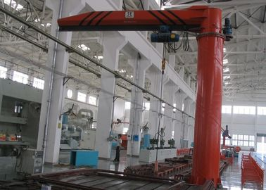 Floor Mounted / Pillar Mounted Electric Slewing Jib Crane Dengan Wire Rope Hoist